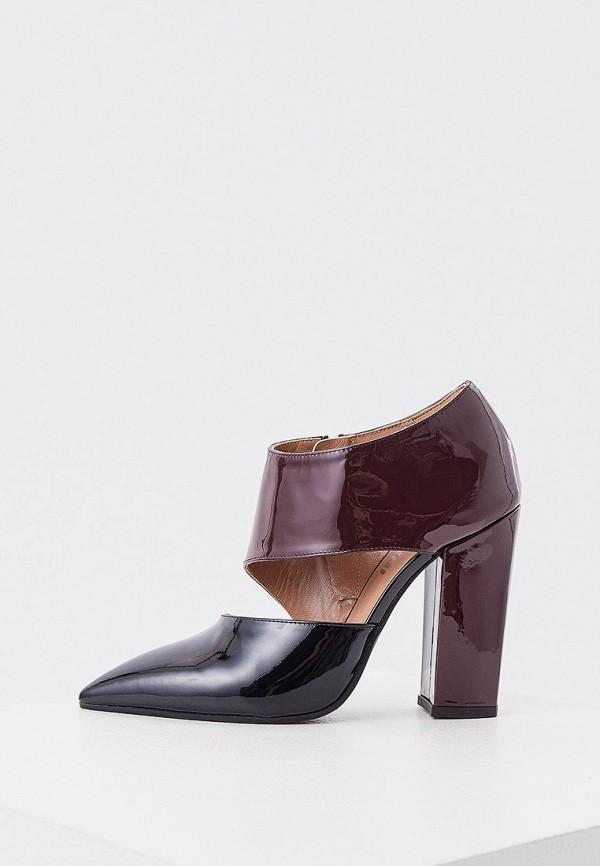 женские туфли с закрытым носом pollini, бордовые