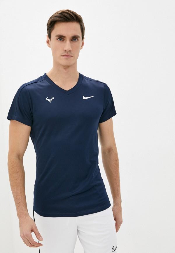 мужская спортивные футболка nike, синяя