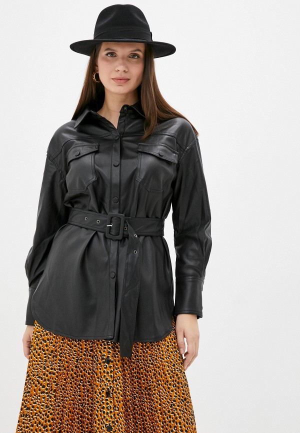 женская рубашка с длинным рукавом francesca peretti, черная