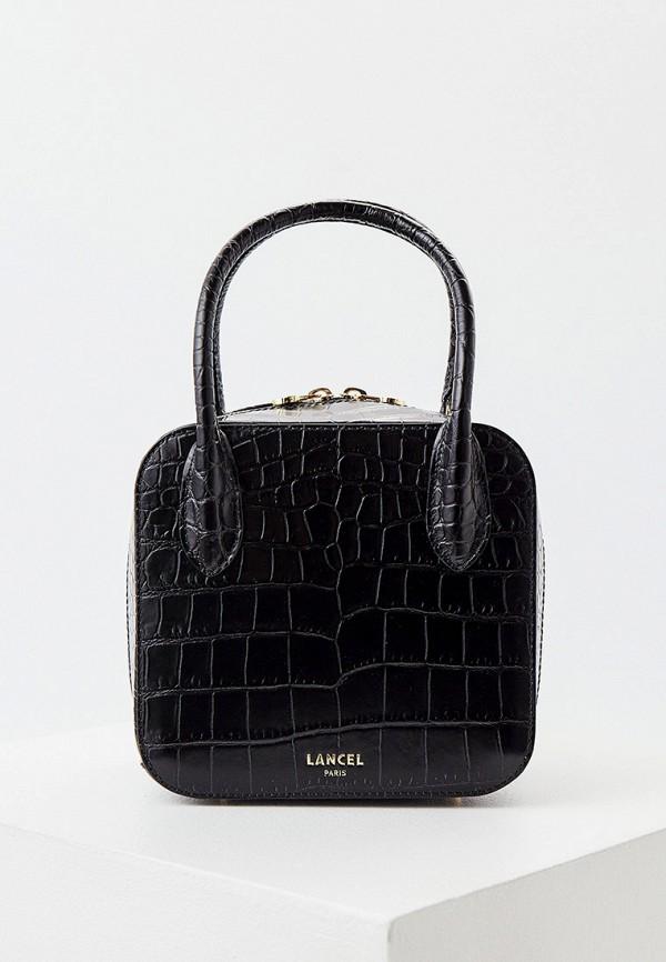 женский кошелёк с ручками lancel, черный