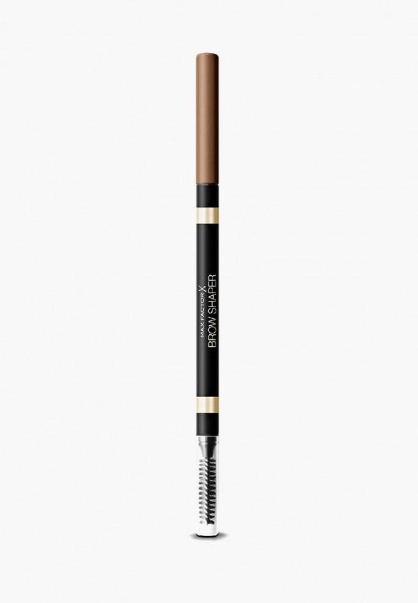 женский карандаш для бровей max factor, коричневый
