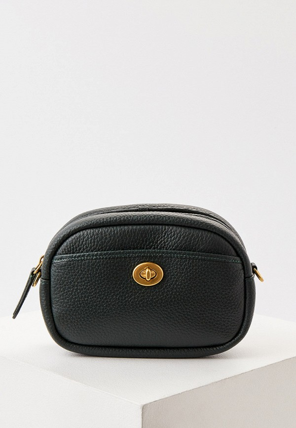 женская сумка через плечо coach, зеленая