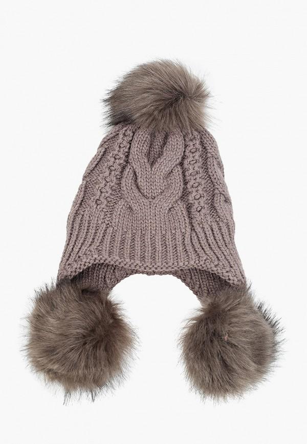 женская шапка val vutti, коричневая