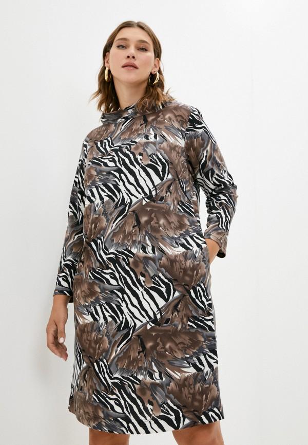 женское платье-свитеры svesta, коричневое