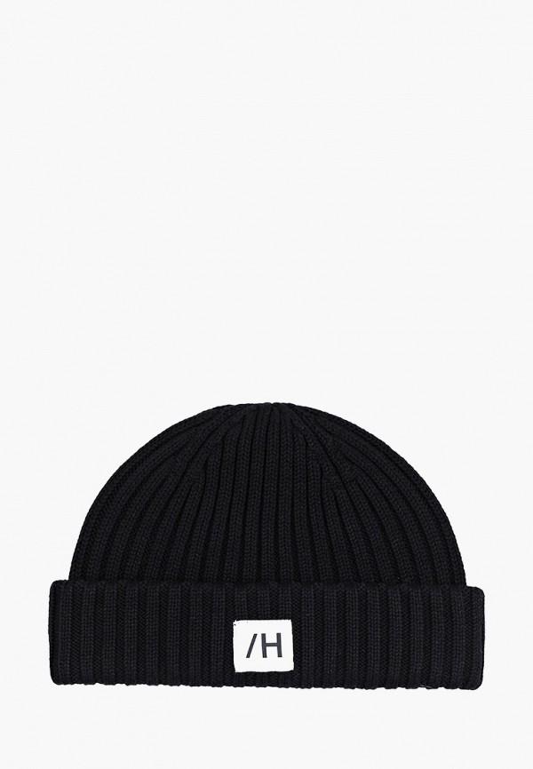 мужская шапка selected homme, черная