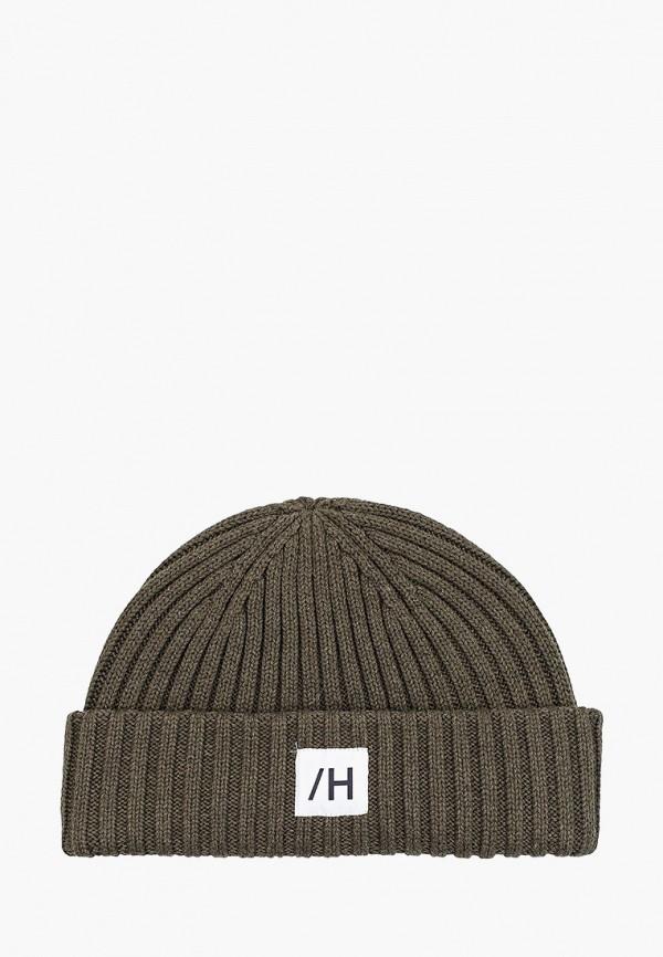 мужская шапка selected homme, хаки
