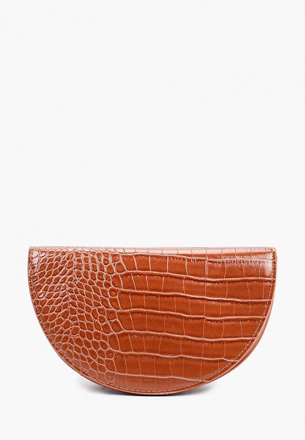 женская сумка pieces, коричневая