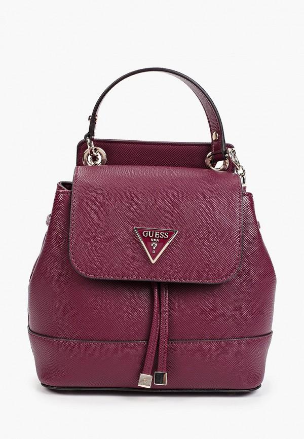 женский рюкзак guess, бордовый
