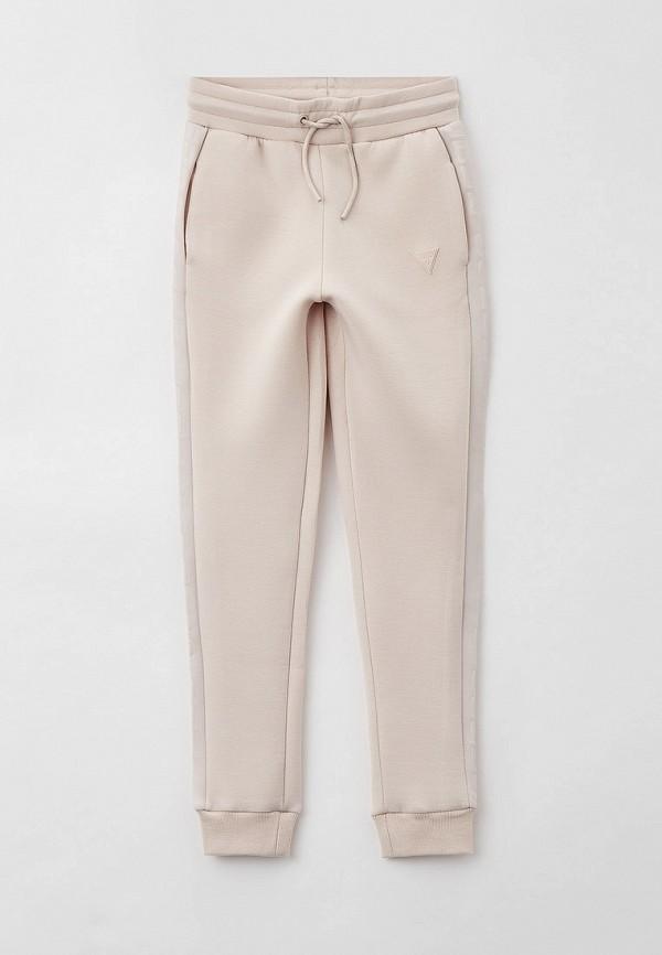 спортивные брюки guess для девочки, бежевые