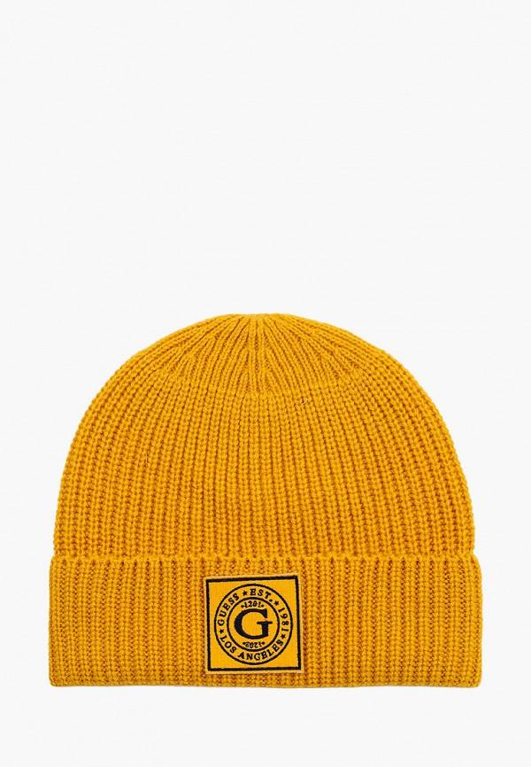 мужская шапка guess, желтая