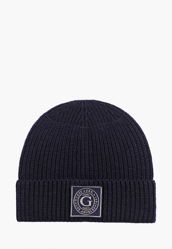мужская шапка guess, синяя