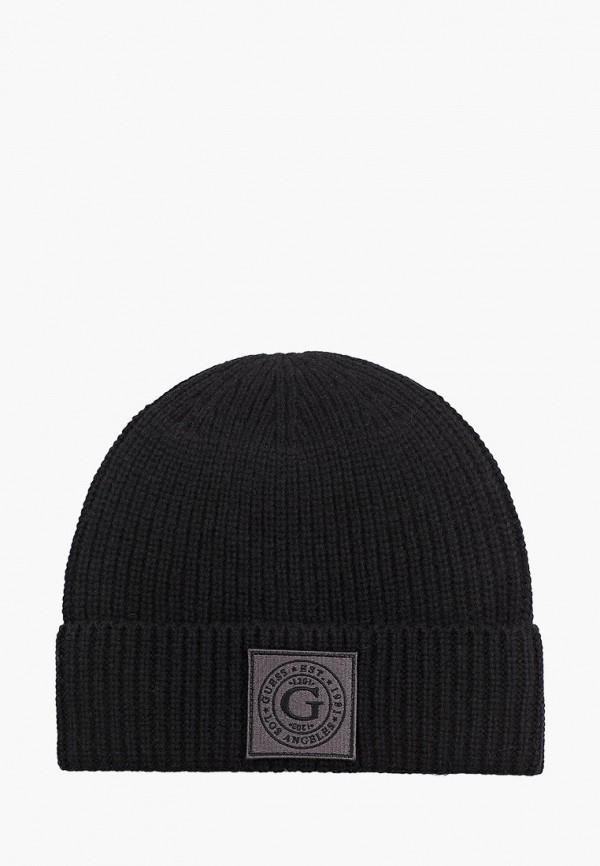мужская шапка guess, черная