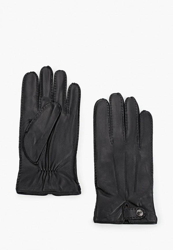 мужские кожаные перчатки fabretti, черные
