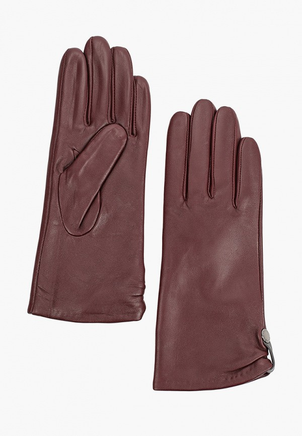 женские кожаные перчатки fabretti, бордовые