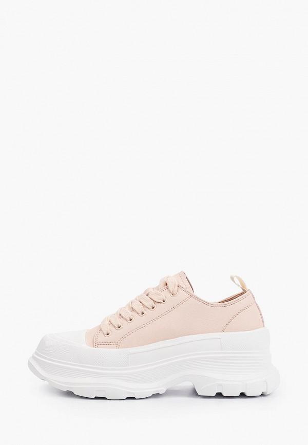 женские низкие кроссовки strobbs, розовые