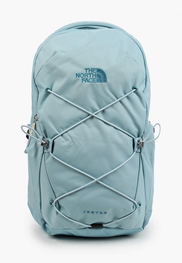 женский рюкзак the north face, голубой
