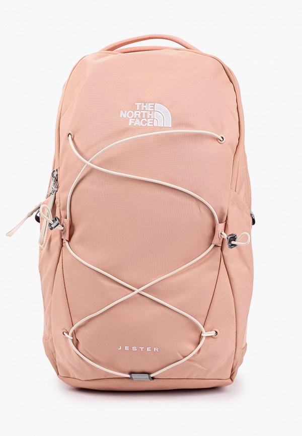 женский рюкзак the north face, розовый