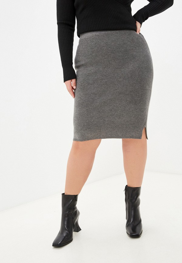 женская прямые юбка rodier, серая