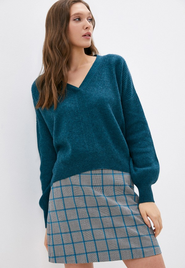 женский пуловер rodier, бирюзовый