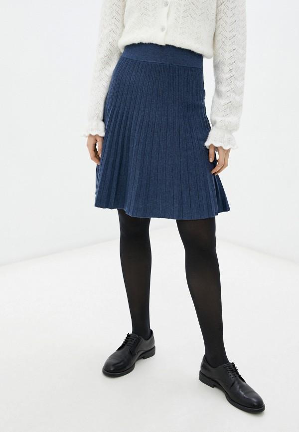 женская юбка rodier, синяя