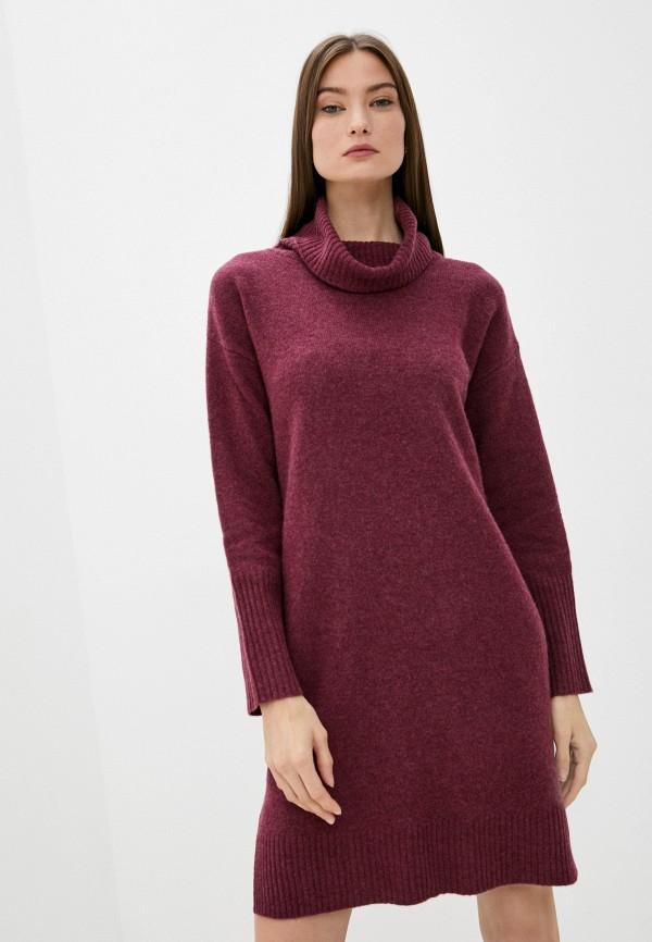 женское платье-свитеры rodier, бордовое