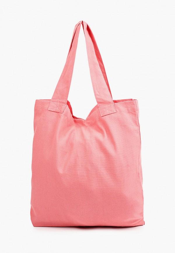 женская сумка-шоперы mango, розовая