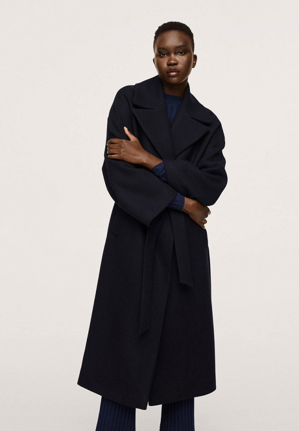 женское пальто mango, черное