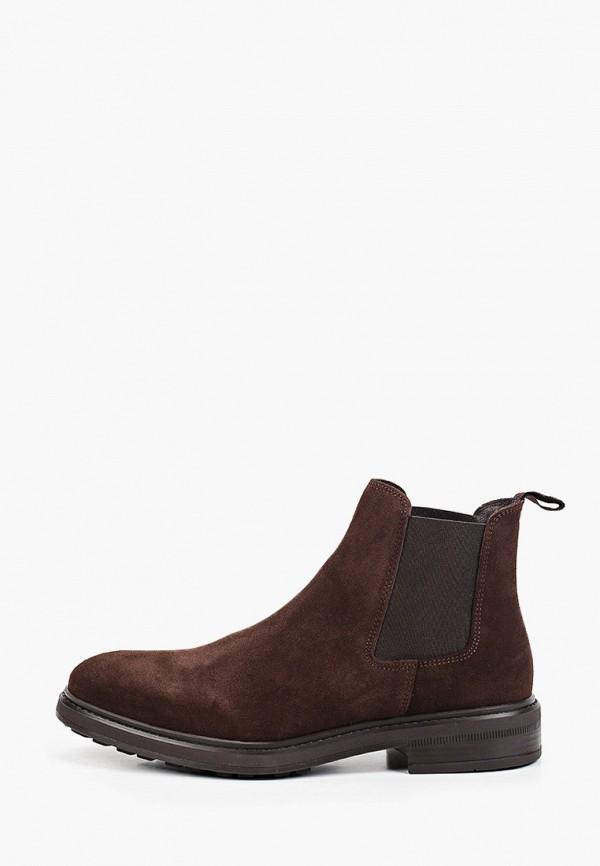 мужские ботинки mango man, коричневые