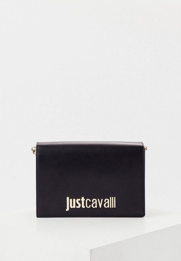женская сумка через плечо just cavalli, черная