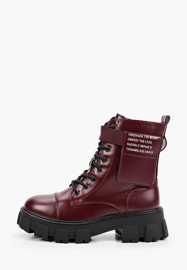 женские высокие ботинки patrol, бордовые