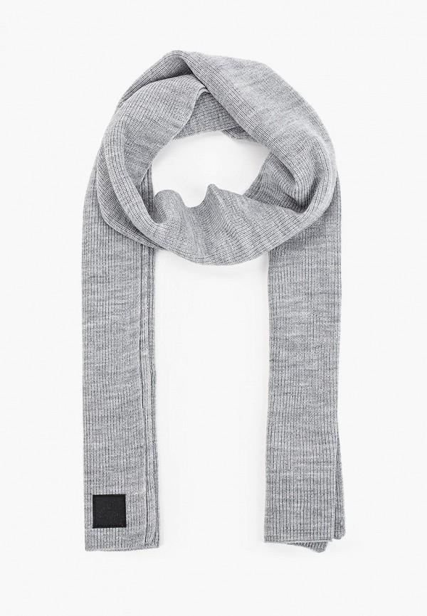 мужской шарф tom tailor, серый