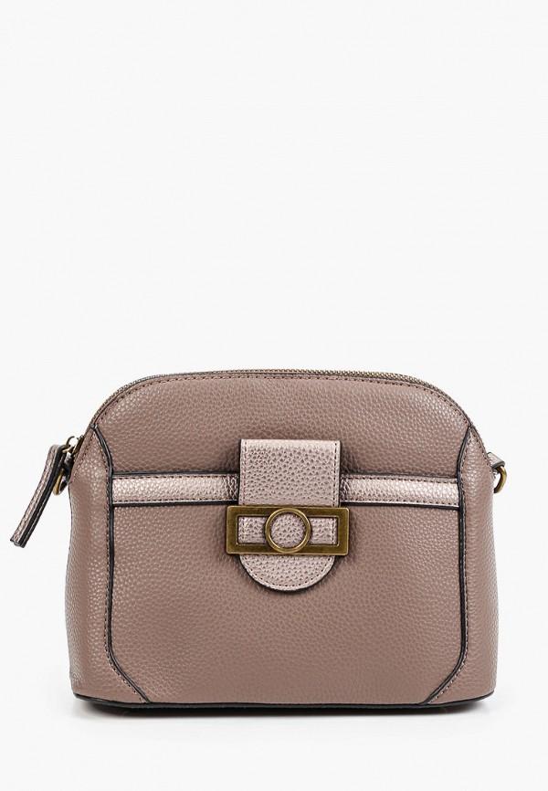 женская сумка через плечо fabretti, бежевая