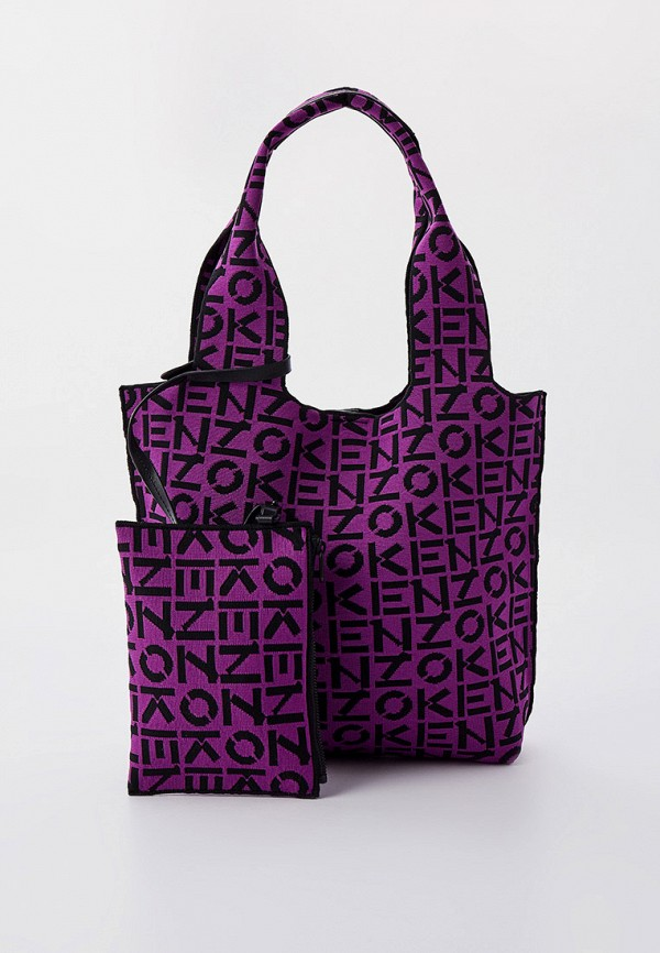 женская косметичка kenzo, фиолетовая