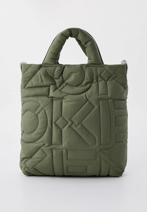 женская сумка с ручками kenzo, хаки