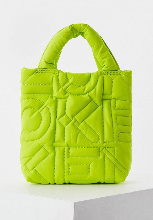 женская сумка с ручками kenzo, зеленая