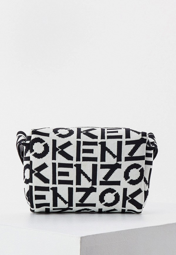 женская сумка через плечо kenzo, белая