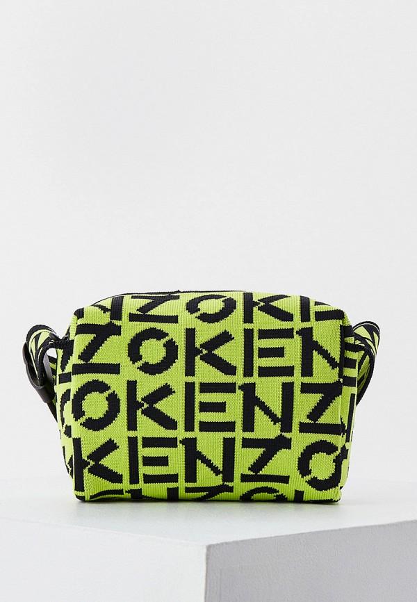 женская сумка через плечо kenzo, зеленая