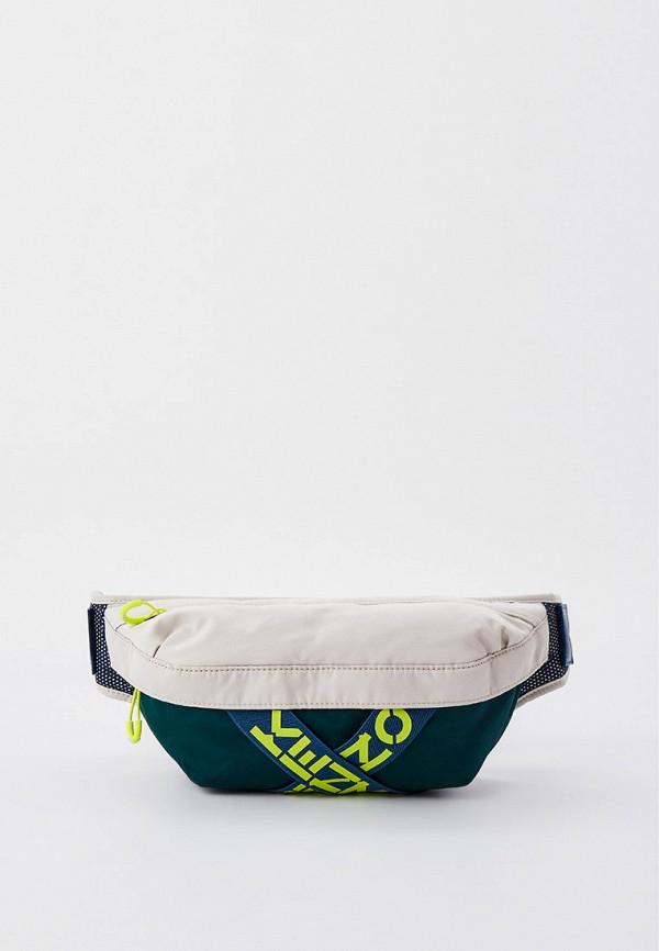 мужская поясные сумка kenzo, зеленая
