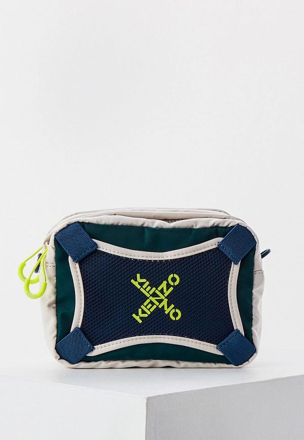 женская сумка через плечо kenzo, бежевая