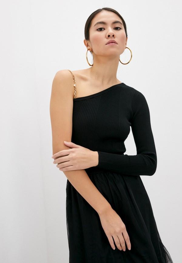 женский джемпер elisabetta franchi, черный