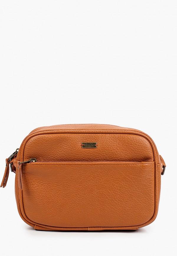 женская сумка roxy, коричневая