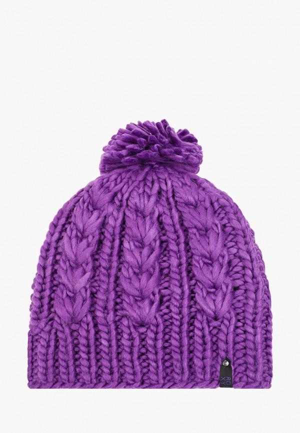 женская шапка roxy, фиолетовая
