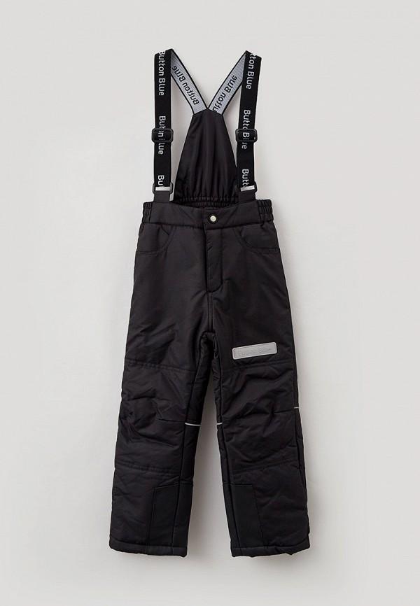 утепленные брюки button blue для мальчика, черные