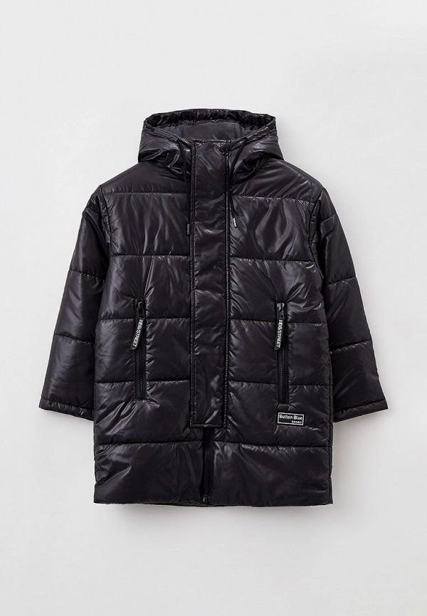 утепленные куртка button blue для мальчика, черная