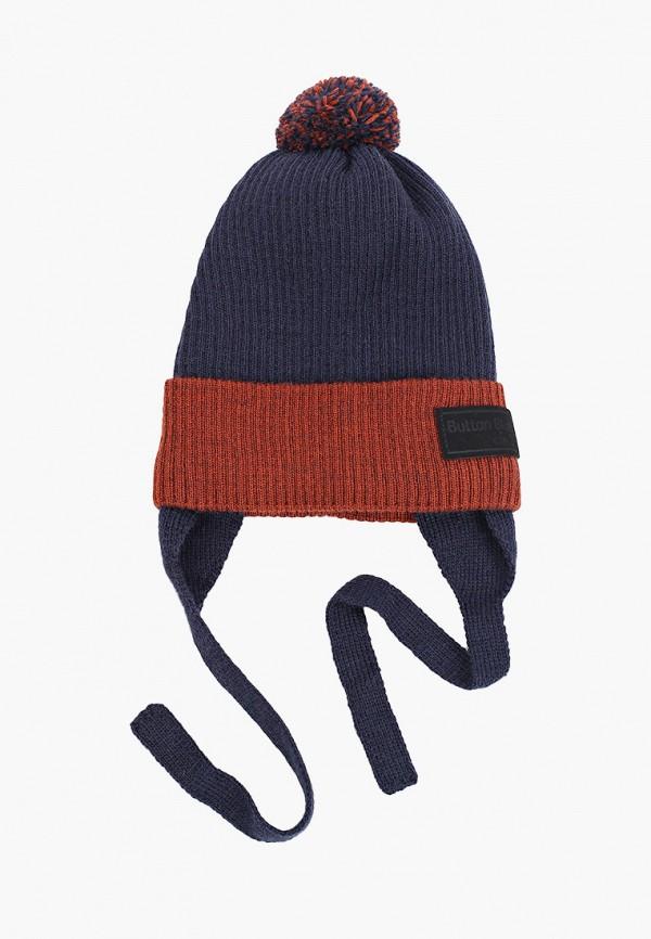 шапка button blue для мальчика, разноцветная
