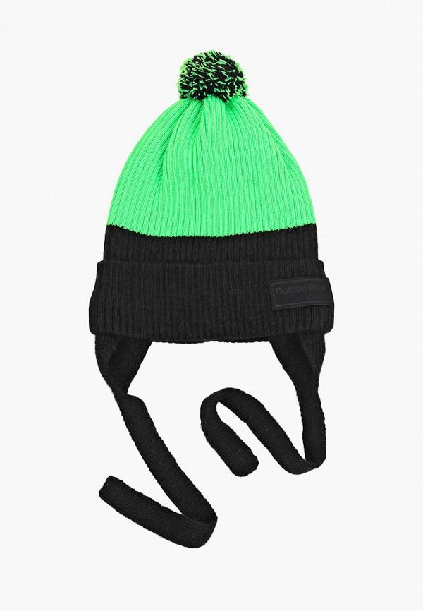 шарф button blue для мальчика, зеленый