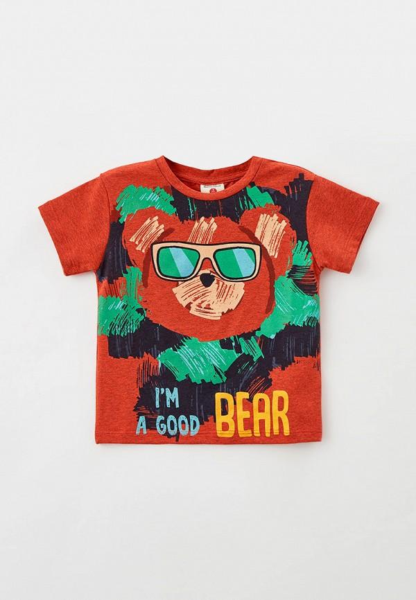 футболка с коротким рукавом button blue для мальчика, коричневая