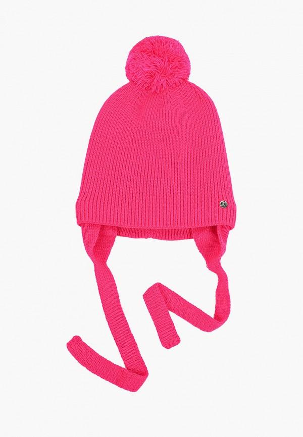 шапка button blue для девочки, розовая