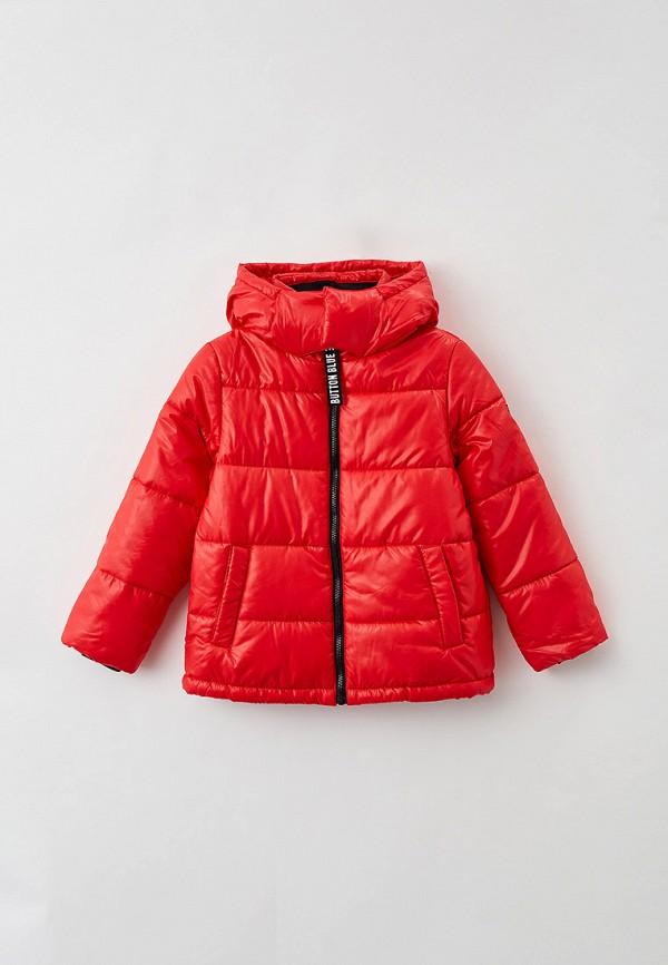 утепленные куртка button blue для девочки, красная