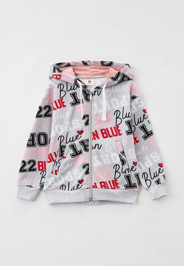 толстовка button blue для девочки, разноцветная